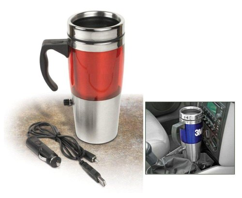 Auto Heated Travel Coffee Tea Mug Cup 12V and USB.