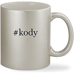 #kody - 11oz Hashtag Silver Sturdy Ceramic Coffee Cup Mug