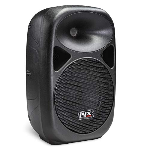 "LyxPro SPA-8 Compact 8"" Portable PA System 100-Watt RMS Power Active Speaker Equalizer Bluetooth SD Slot USB MP3 XLR 1/4"" 1/8"" 3.5mm Inputs"