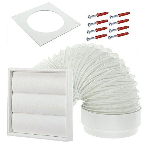 Spares2go Exterior Wall Venting Kit For Ariston Tumble Dryers (White, 4