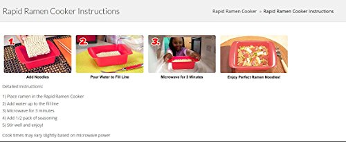 Rapid Ramen Cooker - Microwave Ramen in 3 Minutes - BPA Free and Dishwasher Safe (Four Black) by Rapid Brands (Image #6)