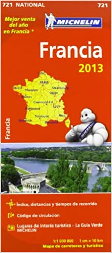Francia 2013 Mapa Michelin Espana Portugal S A 9782067180390