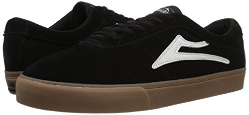 Pour Chaussure Hommes De Daim Lakai Noir Blanc Sheffield Skate CwtRntxZq