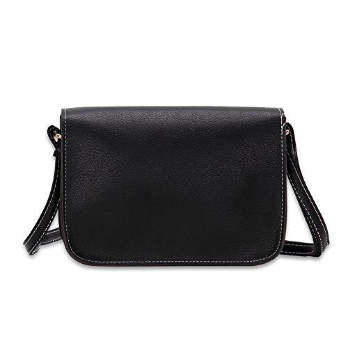 Faysting EU pelle nero borsa a tracolla donna borsa a spalla elegante buon regalo san valentino