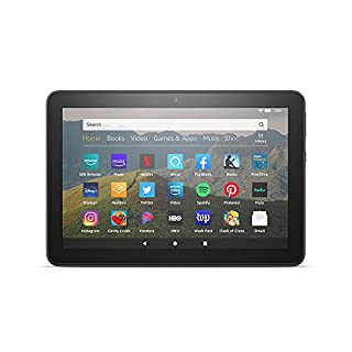 "All-new Fire HD 8 tablet, 8"" HD display, 32 GB, designed for portable entertainment, Black, without ads"