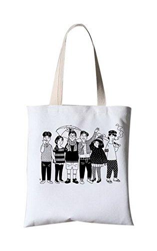 Literarische Leinentasche Reisebeutel Messenger Druck Tragbare Tasche Eine Gruppe von Menschen