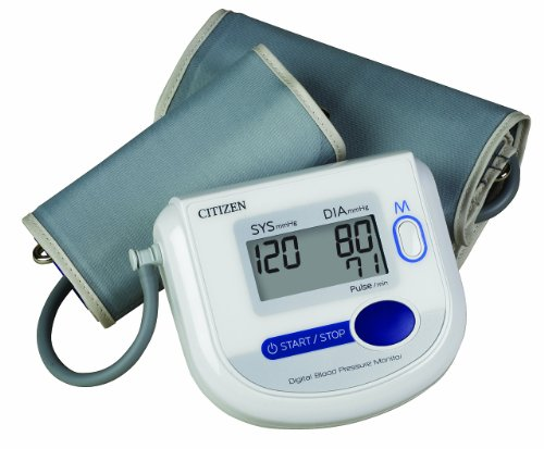 Citizen Ch-4532 Arm Digital Blood Pressure Monitor with Adult and Large Adult Cuffs