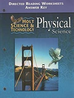 Worksheet Holt Physical Science Worksheets amazon com holt science and technology california directed 2001 physics reading worksheets with answer key