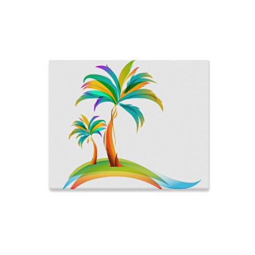 - Wall Art Painting Vector Illustration of The Palm Tree Prints On Canvas The Picture Landscape Pictures Oil for Home Modern Decoration Print Decor for Living Room