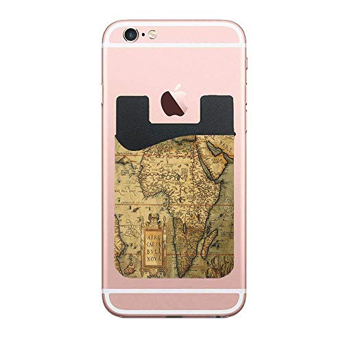 Cellcardphone 16th Century Map of Africa Engraved and Colored by Cartographer Abraham Ortelius Image Premium Cell Phone Card Holder Sticker Firmly Mobile Cell Phones 2 PCS