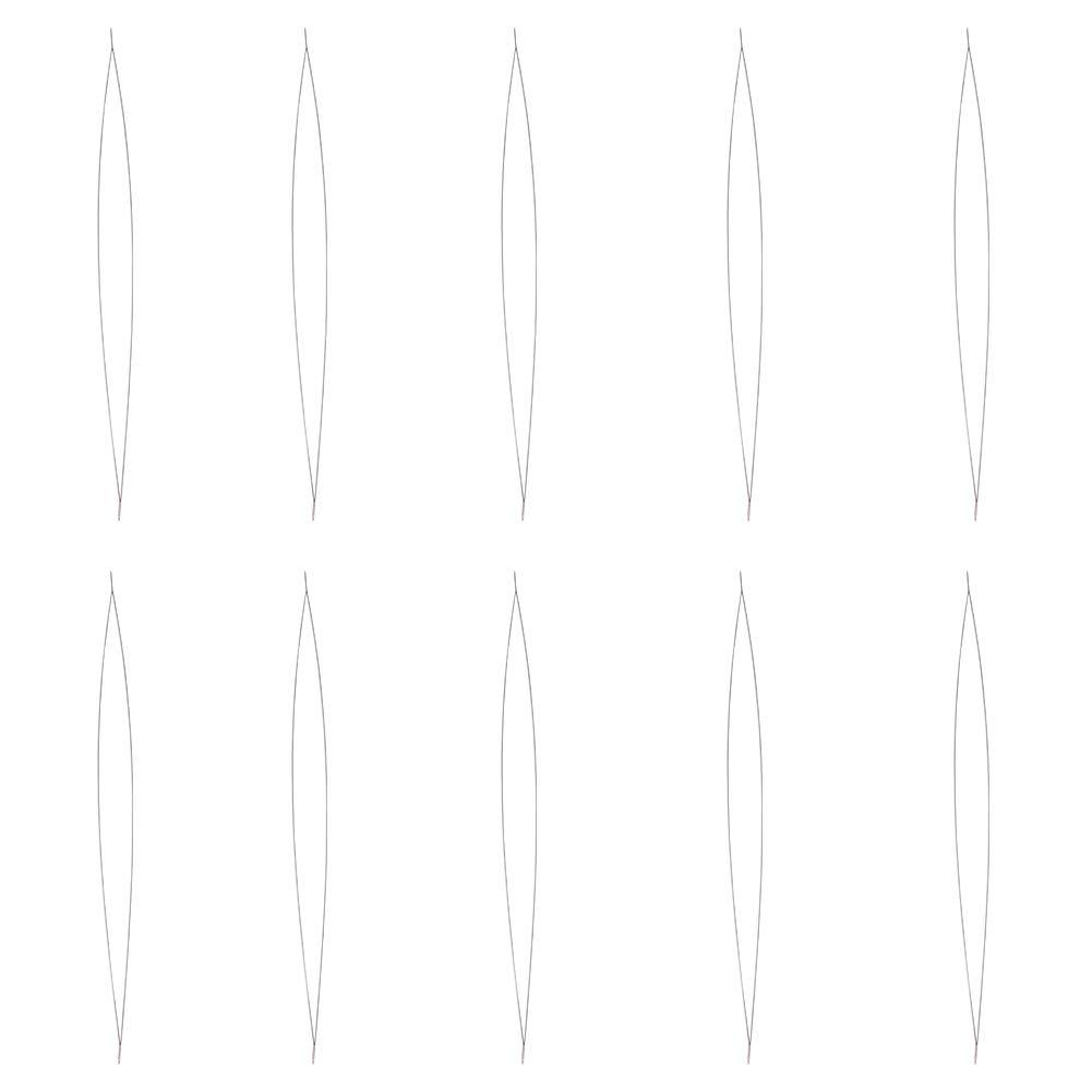 Chiodini Ochiello , Realizzato in acciaio inox, 15.5cm di lunghezza, 0.1mm di spessore, foro: circa 0.1mm PandaHall