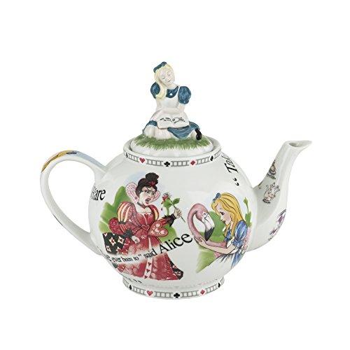 Cardew Design Alice In Wonderland 6 Cup Teapot 48 Ounce Alice In