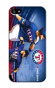 LarryToliver Cover For iphone 5/5s With Customizable Baseball Texas Rangers Image