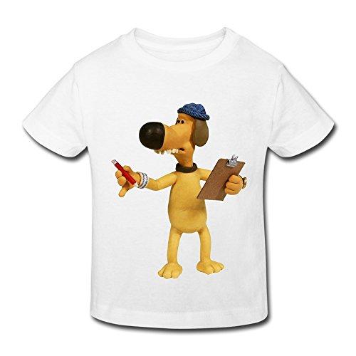 Kids Toddler Shaun The Sheep Little Boys Girls T-Shirt White Size 2 Toddler