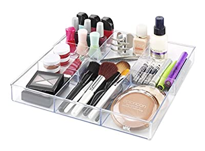 Whitmor 6 Section Drawer Organizer - Easy Fit - Clear