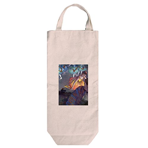 Ballet, From A Box View (Degas) Cotton Canvas Wine Bag Tote With Handles (Degas Bag Ballet)