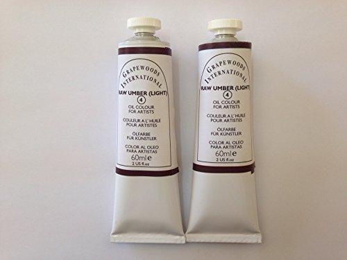Raw umber light,extrafine oil paint(two handmade oil color tubes 60ml each). (Umber Raw Light)
