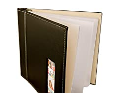 This Black Leather Photo Album is Picture prefect for your Photo Booth event. It can also be used as a scrapbook for any ocassion. Just add your photo booth picture strips and your own creative touches. Your guest can write a message by their...