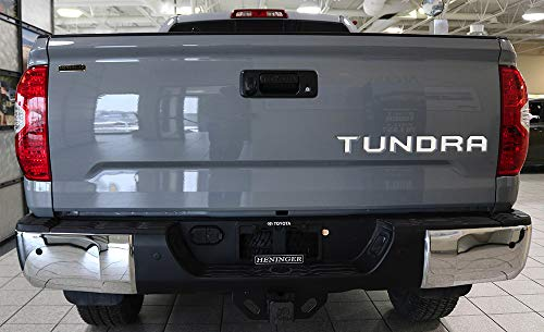 Insert White Laser - BDTrims | Tailgate Plastic Letters Inserts fits 2014-2019 Tundra Models (White)