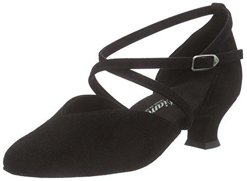 Damen Tanzschuhe 107-013-001, Diamant Chaussures De Danse De Salon Des Femmes Noires - Noir