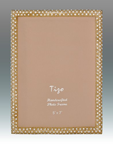 Tizo 8'' X 10'' Elegant Gold Jewel Engraved Frame, Made in Italy by Tizo