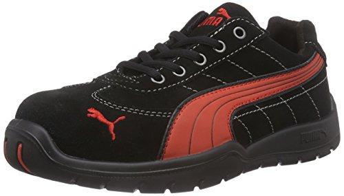 Puma Safety Shoes Silverstone Low S1P HRO SRC, Puma 642630-210-42 Herren Sicherheitsschuhe, Schwarz (schwarz/rot 210), EU 42