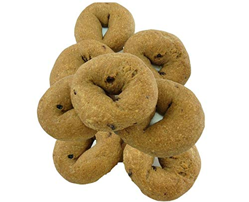 (Low Carb Cinnamon 'Raisin' Bagels (12 Bagels) - Fresh Baked - LC Foods - All Natural - No Sugar - High Protein - Diabetic Friendly - Low Carb Bagels)