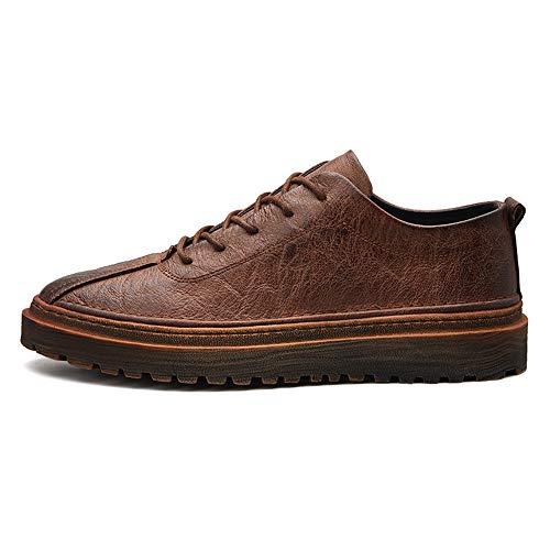 Oxford EU Jusheng Negro 41 Fiber de Hombres Color Casual Invierno Formal Fashion a Retro Hecho tamaño Otoño Mano Marrón Negocios Super Shoes 4CCtrxw