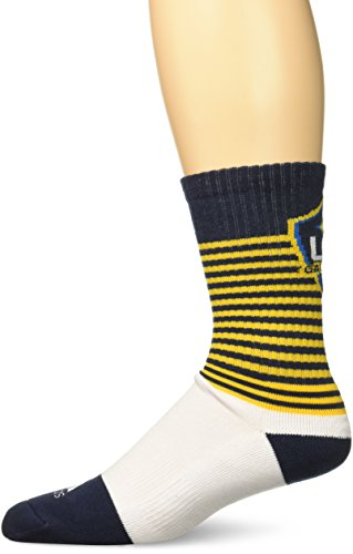 MLS Los Angeles Galaxy Men's SP17 Striped Team Color Crew Socks, Yellow, Size 9-11