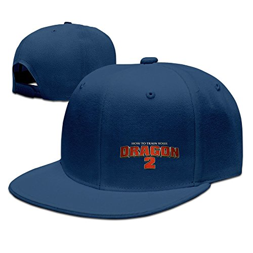 CEDAEI How To Train Your Dragon Flat Bill Snapback Adjustable Mountaineering Hat Navy