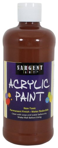 Sargent Art 24-2488 16-Ounce Acrylic Paint, Brown