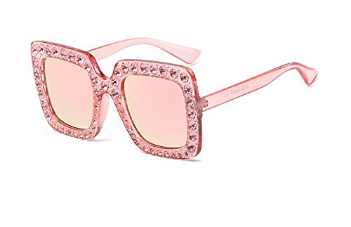 CL New Europe and American Style Fashion Retro Vintag Squere Artificial Crystal Diamond Sunglasses (Color - Ray Uk Bans Womens