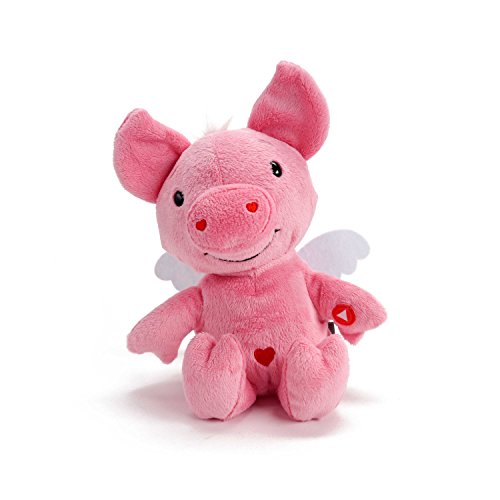 Hallmark Rockin' Cupig Plush Stuffed Animal with Sound and Motion, Sings Version of