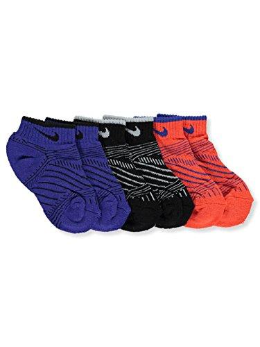 Nike Baby Boys' 3-Pack Socks - blue/multi, 5 - 6