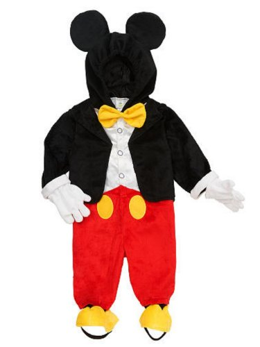 Disney Infant & Toddler Boys Mickey Mouse Costume Jumper with Mouse Ears Hood ()