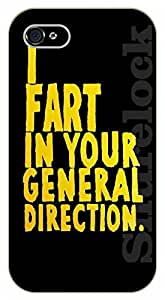 iphone 5 5s I fart in your general direction - black plastic case / Funny