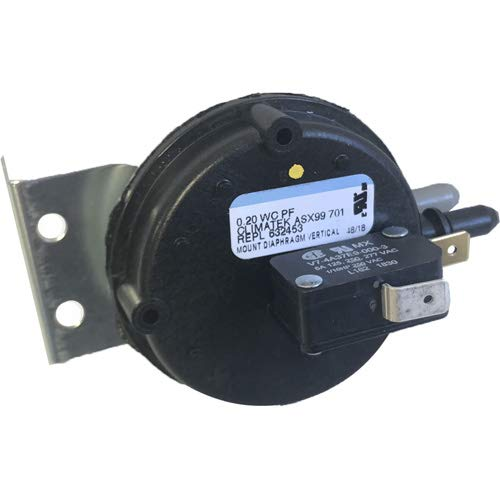 Nordyne Gas Furnace Vent Air Pressure Switch - Replacement for Part # 632453