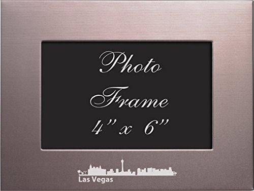 Las Vegas, Nevada-4x6 Brushed Metal Picture - Vegas Frame