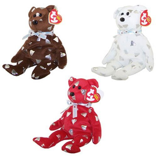 - TY Beanie Babies - HERSHEY BEARS (Set of 3 - Creamy, Smoothie & Yummy) (Walgreens Exclusives)