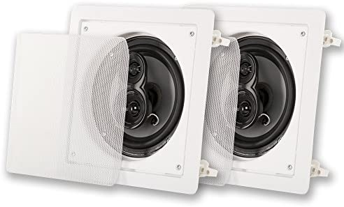 Acoustic Audio by Goldwood CSi63S in Wall/Ceiling 6.5″ Speaker Pair 3 Approach House Theater Audio system, White