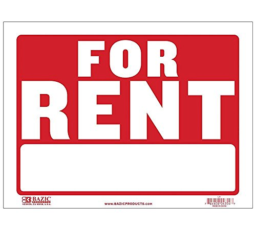 2 Pk. BAZIC 12' X 16' For Rent Sign (L-4)