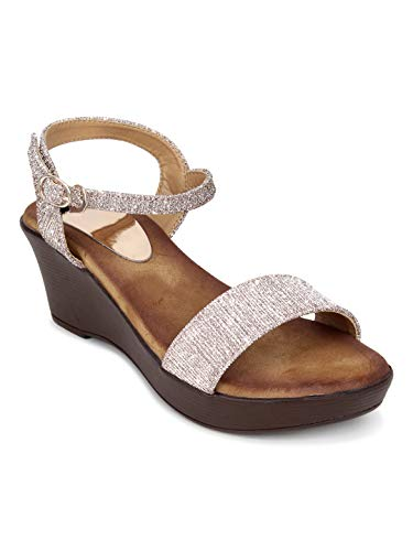Glitzy Galz Comfortable Wedges for Women