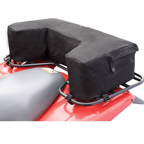 Kwik-Tek Wrap-Around ATV Rack Bag, Black - Rear Black Rack Bag