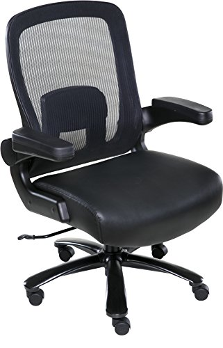 OneSpace Taft Mesh Back Oversized Executive Chair with Pocket Coil Seat Cushioning, (Executive Pocket)