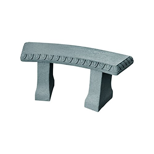 EMSCO Group Garden Bench - Natural Granite Appearance - Made of Resin - Lightweight - 12
