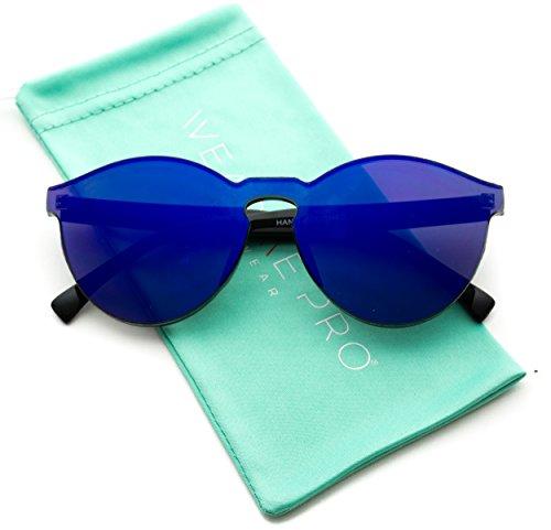 WearMe Pro - Round Super Full Lens Mirrored - Sunglasses Trend Reflective