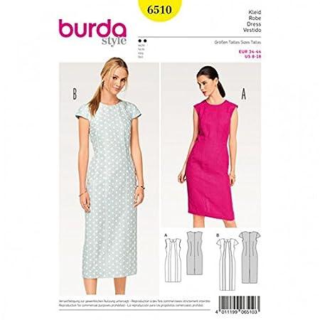 Burda Ladies Easy Sewing Pattern 6510 Shift Dresses: Amazon.co.uk ...
