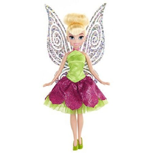 (Disney Fairies Classic Tink with Dress Doll, Pink/Purple)