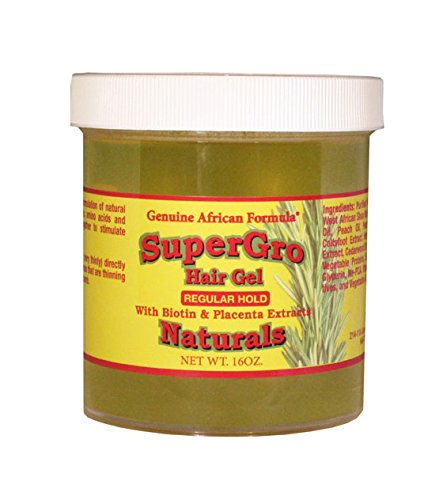 African Formula Super Grow Hair Gel Regular Hold 8oz