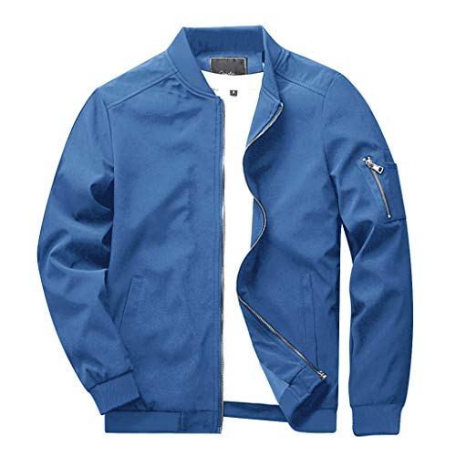 CRYSULLY Men's Spring Fall Casual Slim Fit Thin Lightweight Outwear Sportswear Bomber Jacket Coat